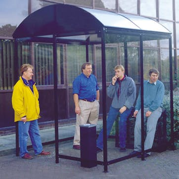 Domed Roof 4-Sided Aluminum Smoking Shelters