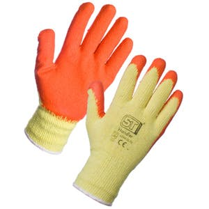 Economy Latex Gripper Gloves - Orange