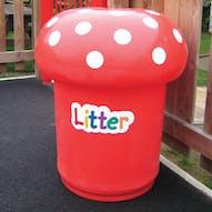 Mushroom Litter Bins