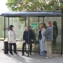 Domed Roof Open Front Aluminum Smoking Shelters
