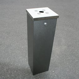 Flat Top Tower Cigarette Bin