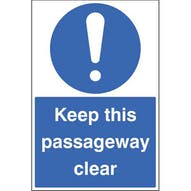 Keep this passageway clear