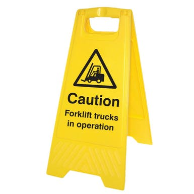 Caution Forklift Trucks In Operation