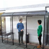Domed Roof Back-to-Wall Aluminum Smoking Shelters