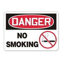 Danger: No Smoking (with symbol)