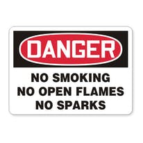 Danger: No Smoking No Open Flames No Sparks