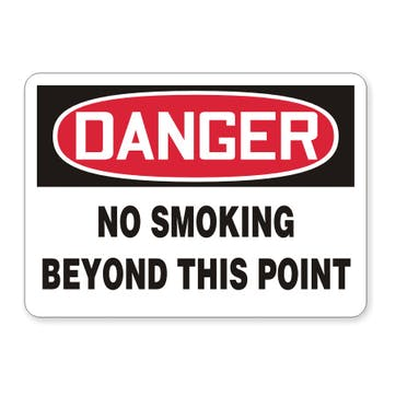 Danger: No Smoking Beyond This Point