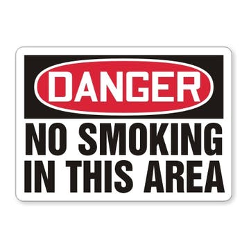 Danger: No Smoking In This Area