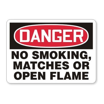 Danger: No Smoking, Matches Or Open Flames In This Area