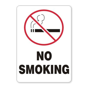 No Smoking with symbol (vertical)
