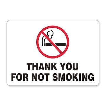 Thank You For Not Smoking (with symbol)