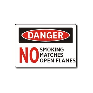 Danger: No Smoking, Matches or Open Flames