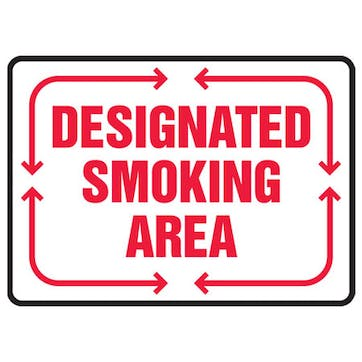 Designated Smoking Area (Red)