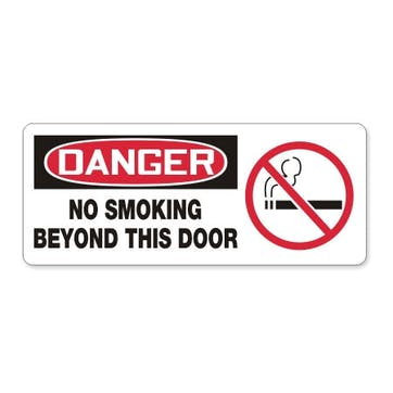 No Smoking Beyond This Door W/Graphic