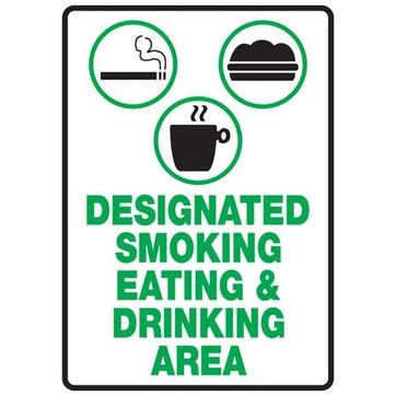 Designated Smoking Eating & Drinking Area