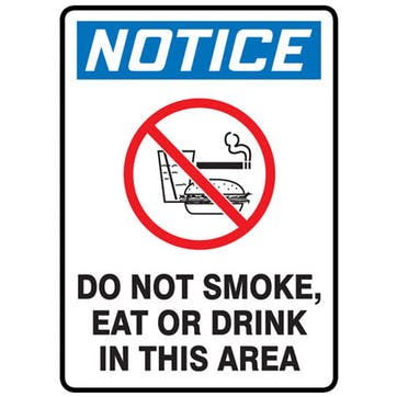 Do Not Smoke Eat Or Drink In This Area