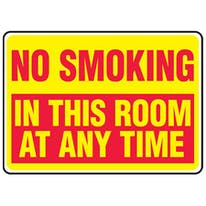 No Smoking In This Room At Any Time