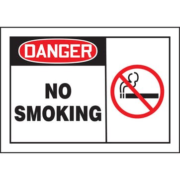 Danger No Smoking W/Graphic