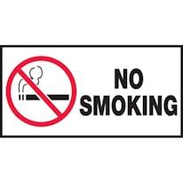 No Smoking W/Graphic (White)