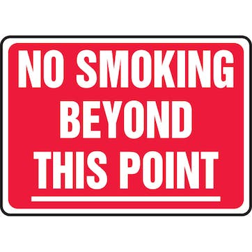 No Smoking Beyond This Point (Red)