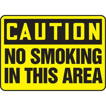 Caution No Smoking In This Area