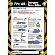 First Aid - Emergency Resuscitation Poster