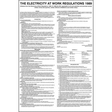 Electricity At Work Regulations 1989