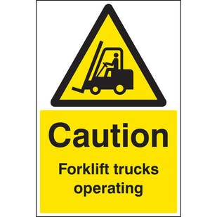 Caution Forklift Trucks Operating