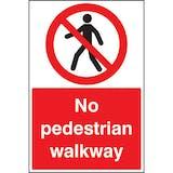 No Pedestrian Walkway