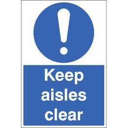 Keep Aisles Clear