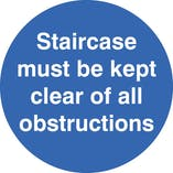 Staircase Keep Clear Of Obstructions