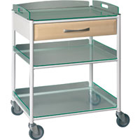 Sunflower Medium Dressing Trolleys Glass