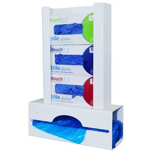 Antimicrobial Triple Glove & Apron Dispenser