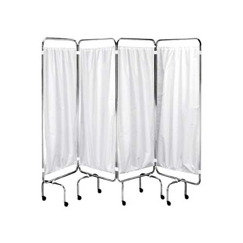 4 Fold Privacy Screens with Curtains