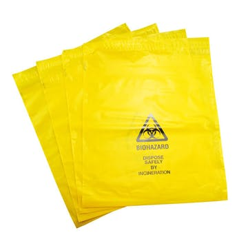 Self-Seal Biohazard Disposal Bags