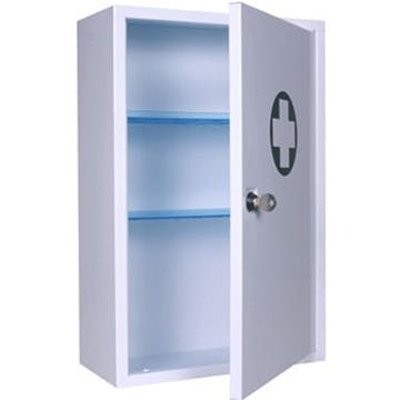 Empty Locking First Aid Cabinet