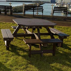 Heavy Duty Octagonal Picnic Table