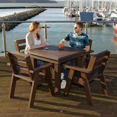 Bosun's Table and Captains Chairs Set