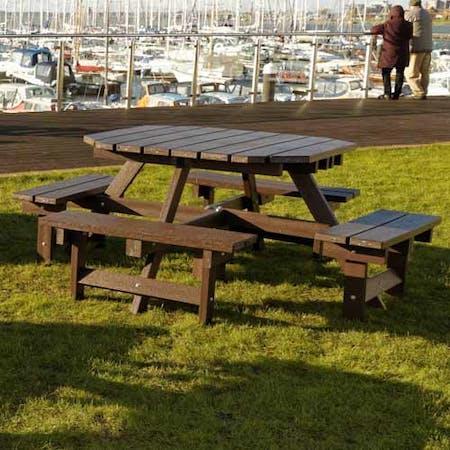Heavy Duty Octagonal Picnic Table