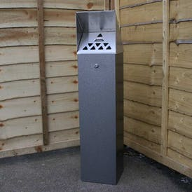 Hooded Top Tower Cigarette Bin