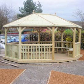 Wooden Smoking Shelters
