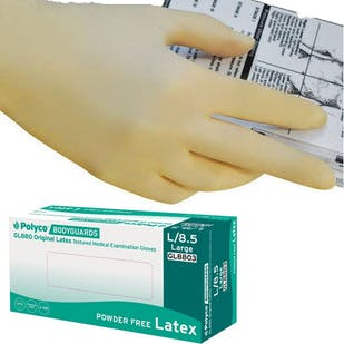 Bodyguards Original Powder Free Latex Gloves