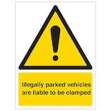 Vehicle Security Signs