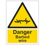 Barbed/Razor Wire Signs