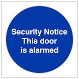 Security Door Signs
