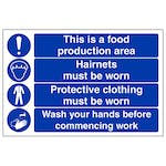 This Is A Food Production Area - Hairnets