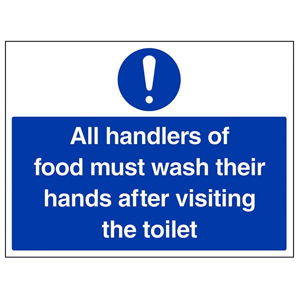 All Handlers Of Food Must Wash
