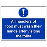 All Handlers Of Food Must Wash - Large Landscape