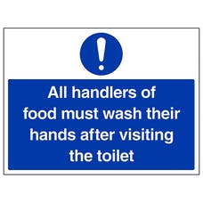 All Handlers Of Food Must Wash