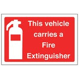 This Vehicle Carries A Fire Extinguisher - Landscape